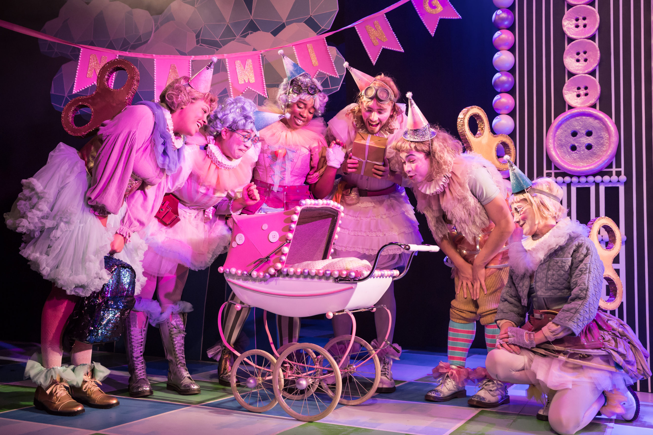 Cast of Sleeping Beauty at Theatre Royal Stratford East  Photo by
