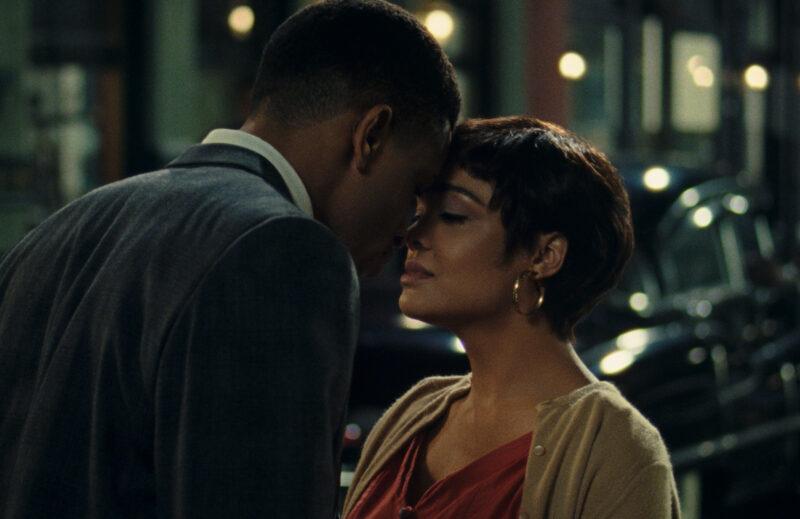 NNAMDI ASOMUGHA as ROBERT HALLOWAY and TESSA THOMPSON as SYLVIE PARKER in SLYVIE'S LOVE